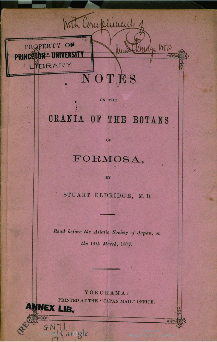 Notes on the Crania of the Botans of Formosa